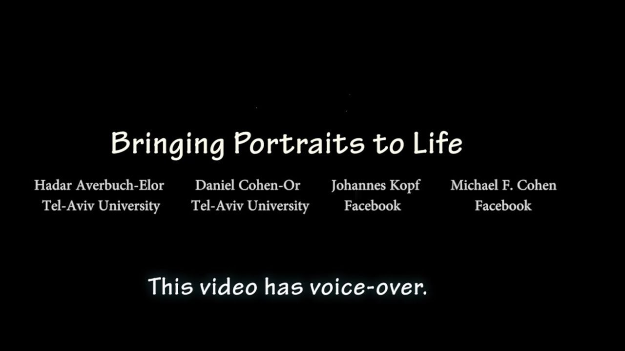 Bringing Portraits to Life