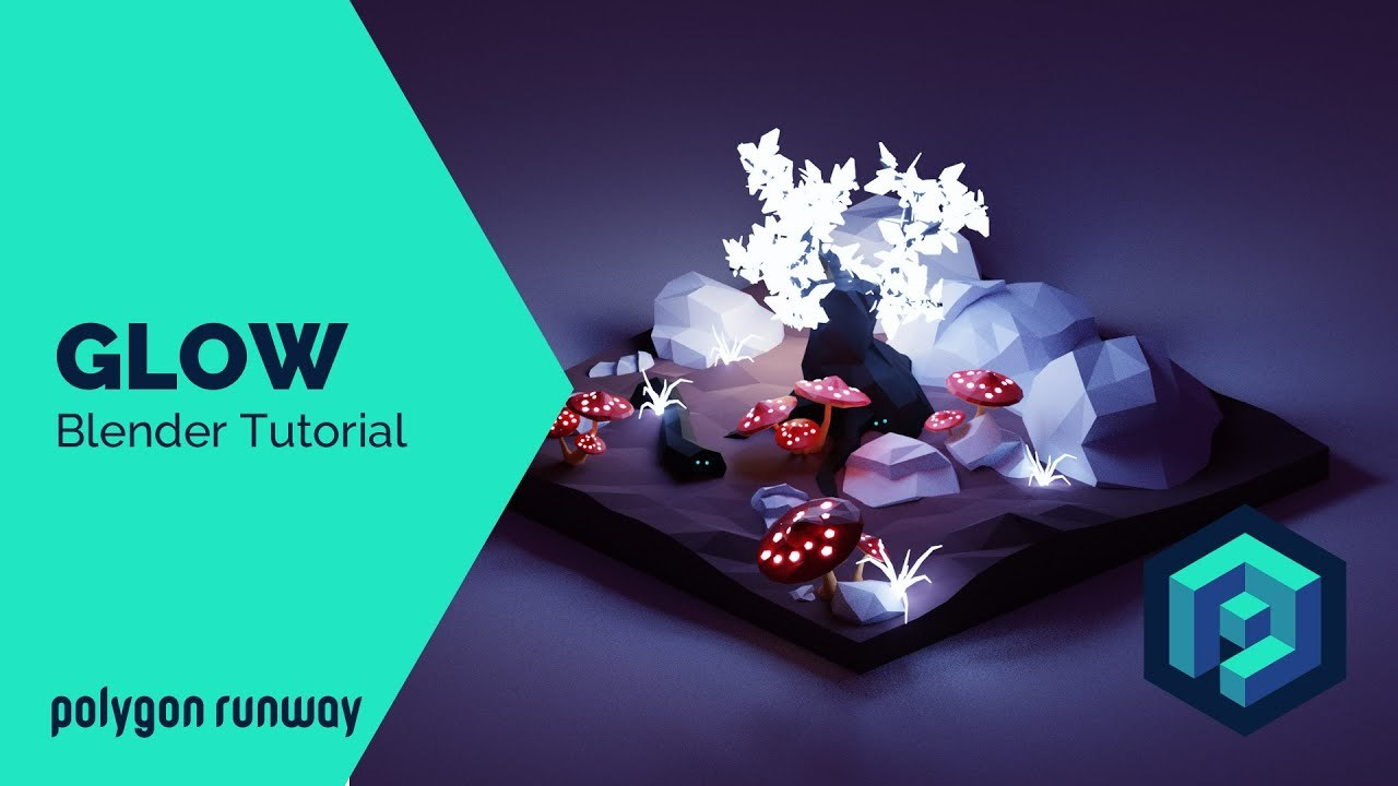 Glow - Blender 2.8 Low Poly Isometric Modeling and Rendering Tutorial