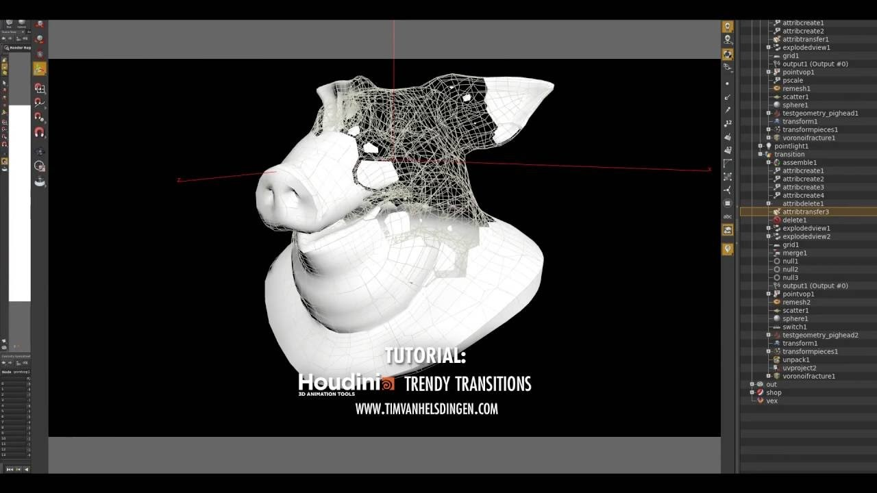 Houdini Tutorial - Trendy Transitions and Motion Fx
