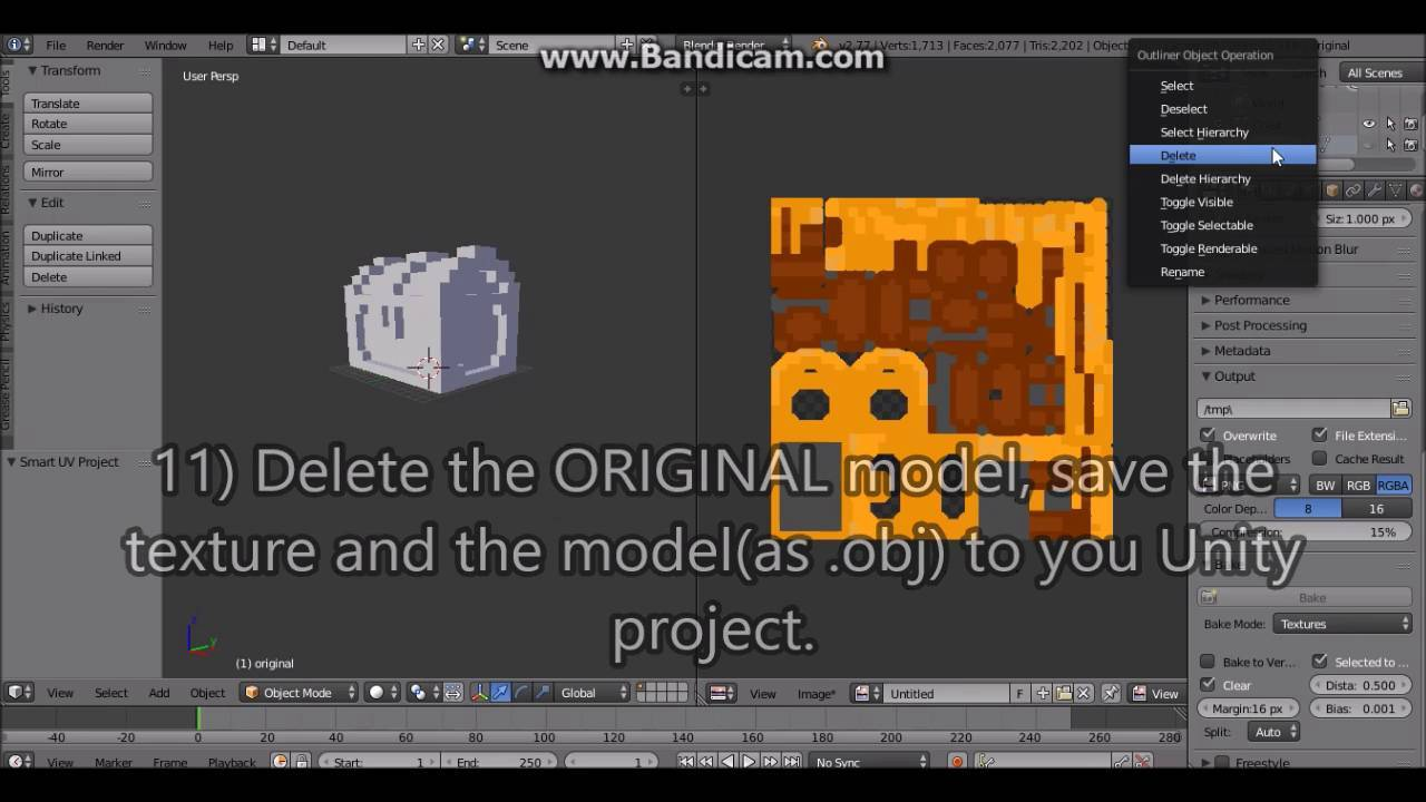 How to optimize MagicaVoxel Models using Blender