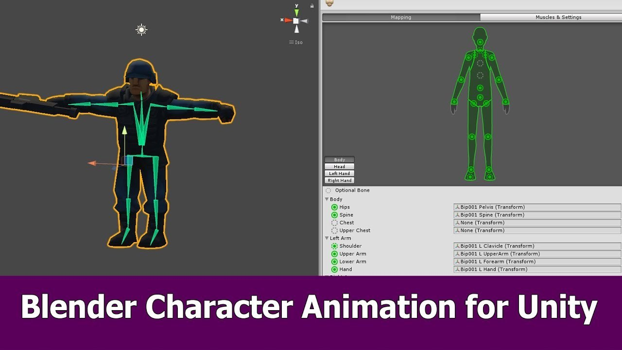 Blender Character Animation for Unity
