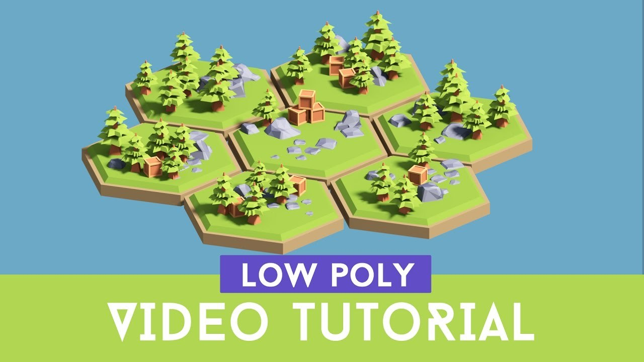[Tutorial] Creating 3d Low Poly (cartoon) Hexagon Tiles ( Floating islands) models.