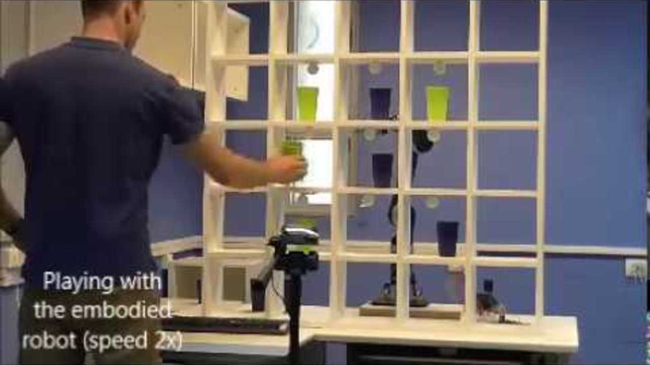 Game with a robotic arm to simulate 3D functional activities of daily living