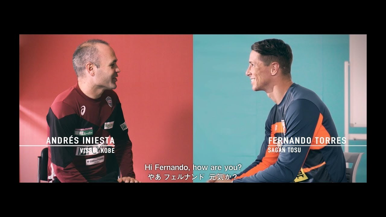 Andrés Iniesta and Fernando Torres talk about their adventure in J.League