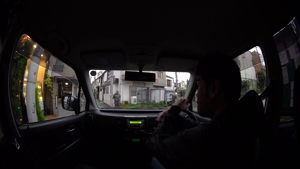 Driving on narrow street