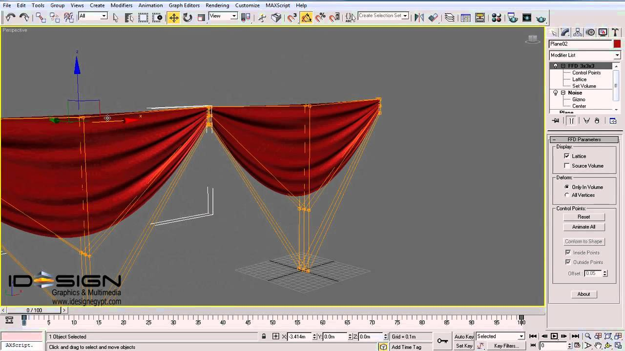 making a  simple curtain model in 3dsmax
