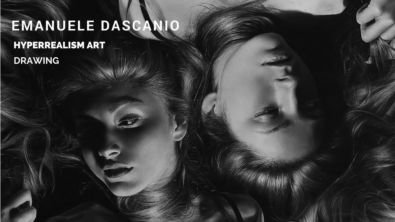 HYPERREALISM - 550 working hours drawing charcoal and graphite! Made by Emanuele Dascanio