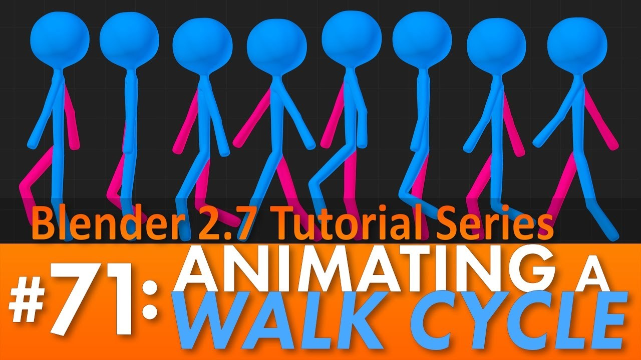 Blender 2.7 Tutorial #71: Animating a Walk Cycle #b3d