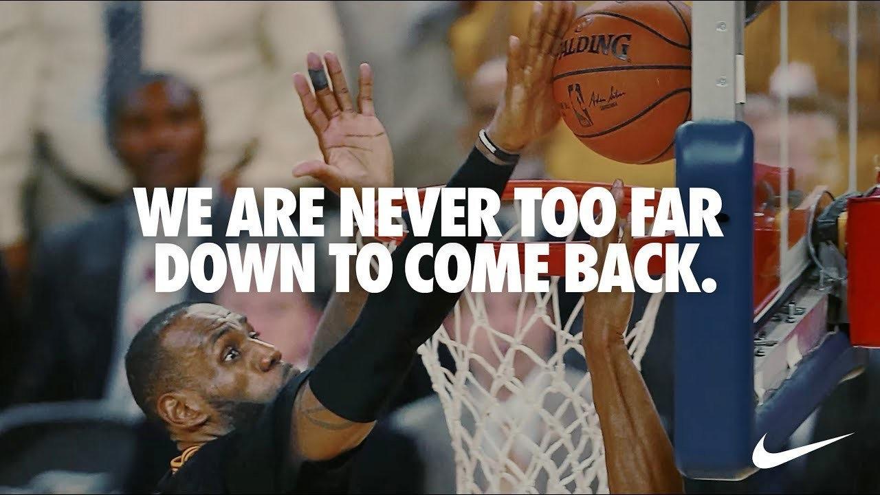 Never Too Far Down   You Can't Stop Us   Nike