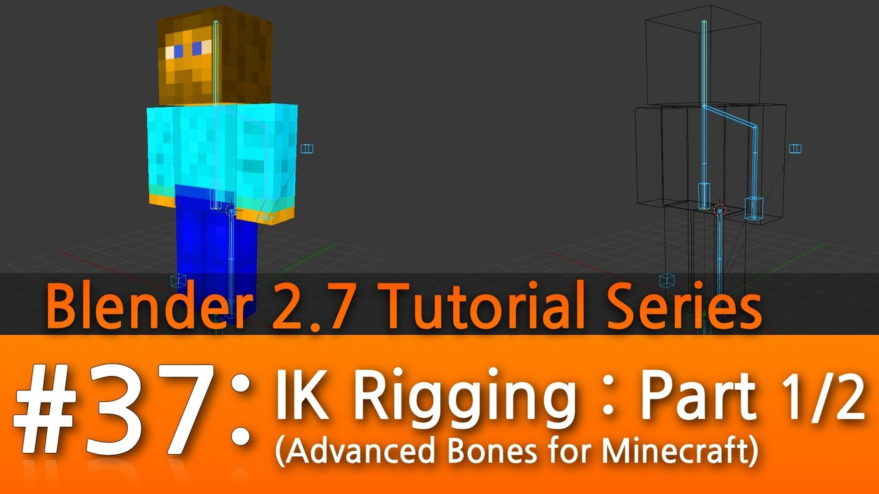 Blender 2.7 Tutorial #37 : IK Rigging (Part 1/2) #b3d