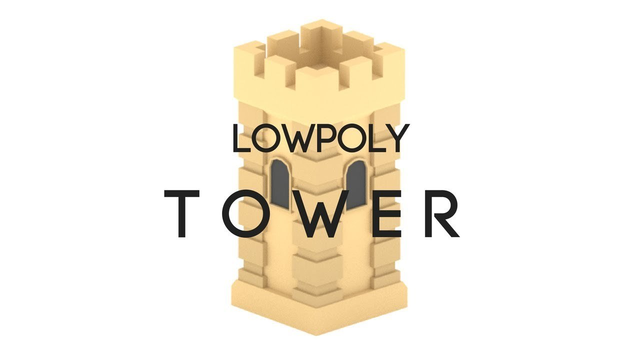 Low poly tower beginner modeling tutorial in Blender