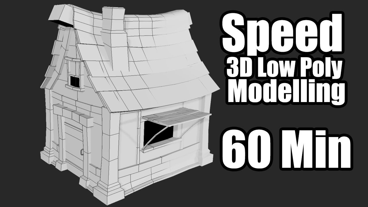 3DSMAX Low Poly Speed Box Modelling Fantasy House - GamePoly