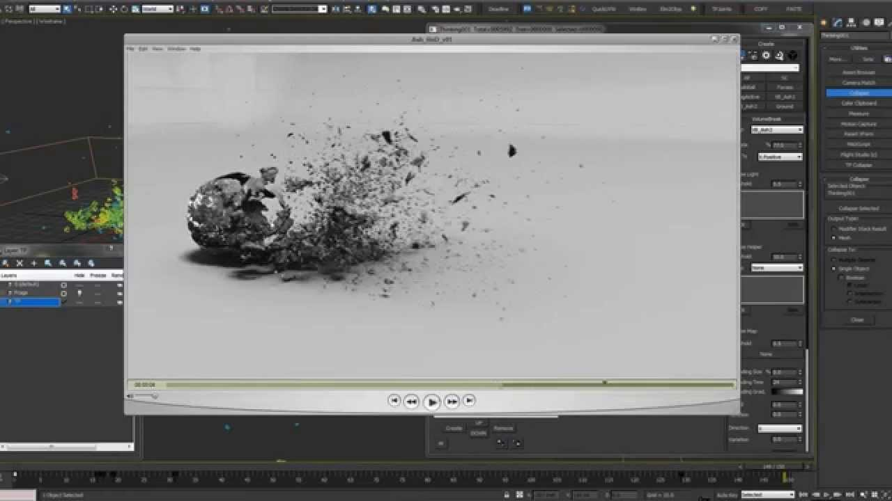 3ds Max Mastering Thinking Particles - Ash Decay Destruction Tutorial