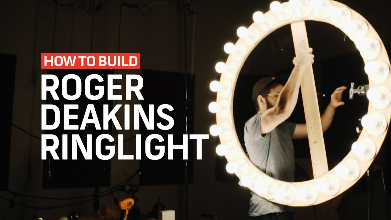 How To Make A ROGER DEAKINS RING LIGHT | Cinematography Techniques