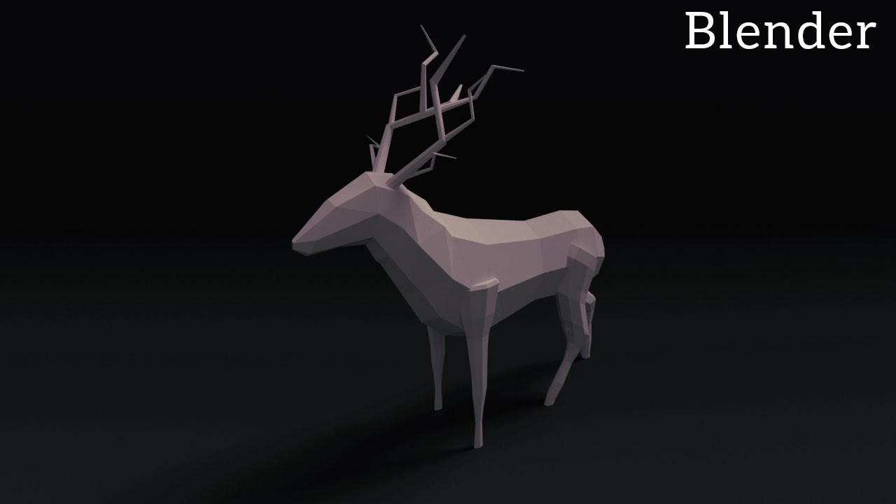 Blender Tutorial: Low Poly Animals