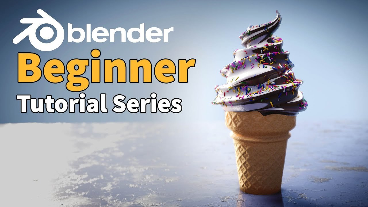 Blender 2.8 Beginner Tutorial - Part 1 : 3D Basics