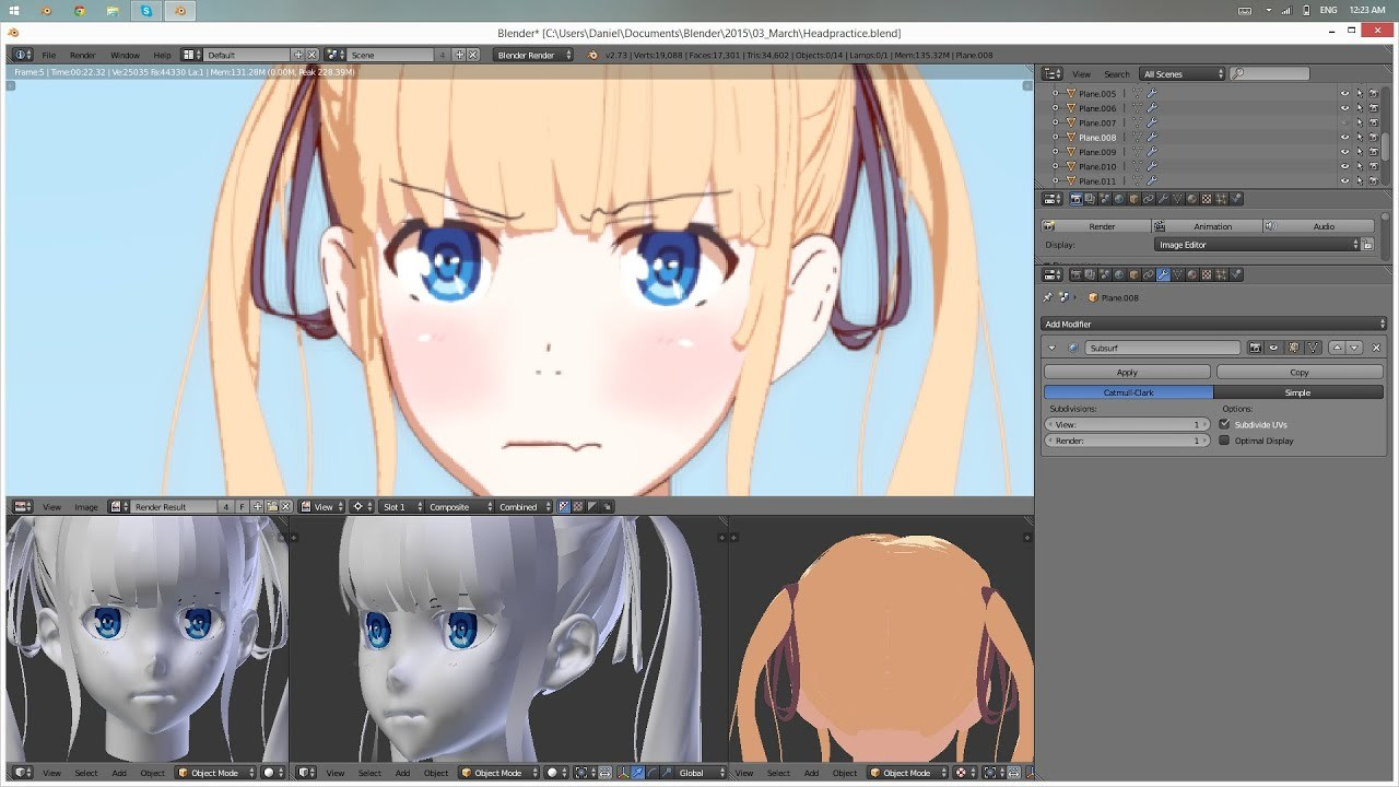 Texturing/Rendering Anime characters in Blender [Tutorial]