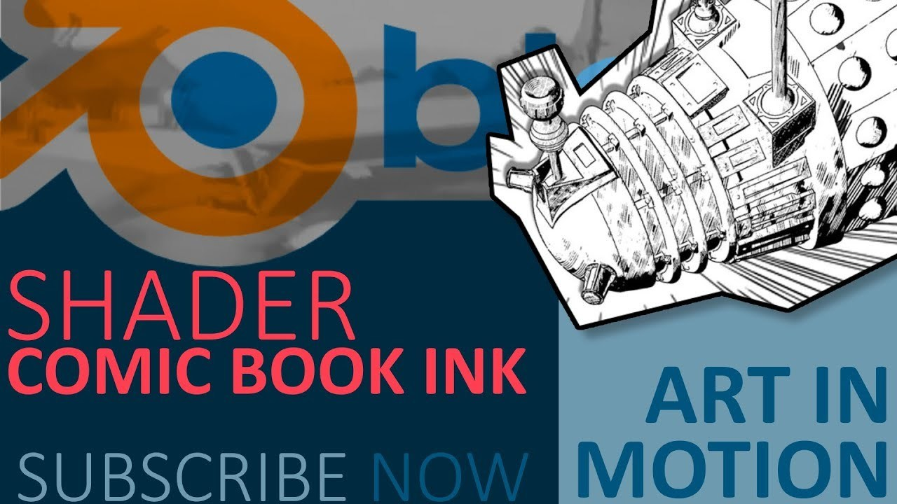 Blender Tutorial : Comic book/ Manga ink shader