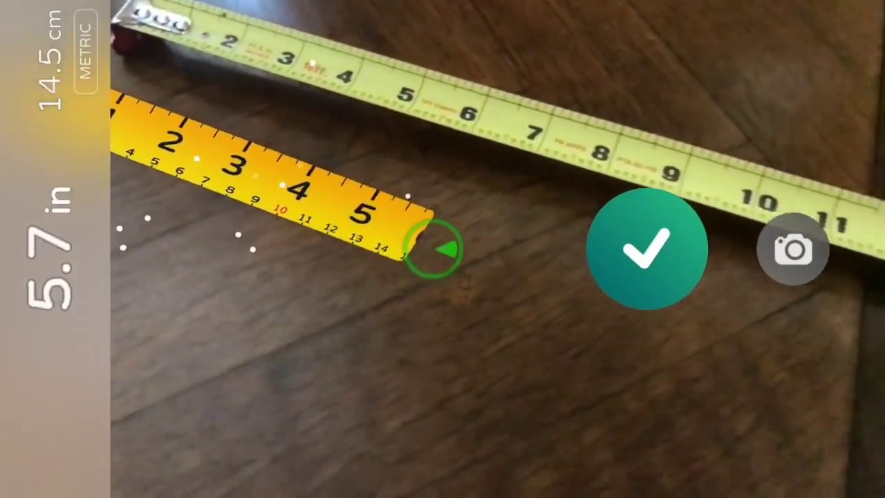 Air Measure App Demo - Augmented reality tape measure