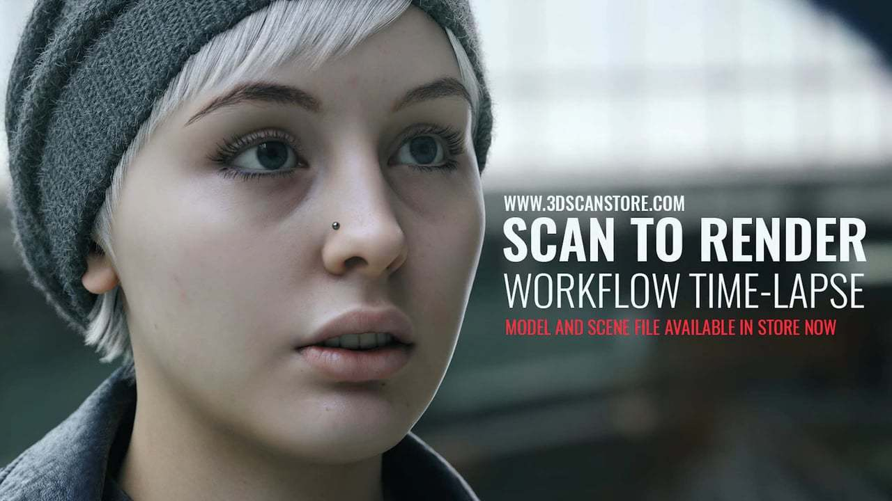3D Scan to Final Render Workflow Time-Lapse