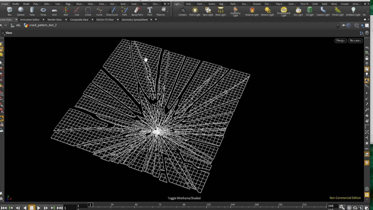 How to make glass fracture pattern in Houdini (Using Voronoi fractrue)