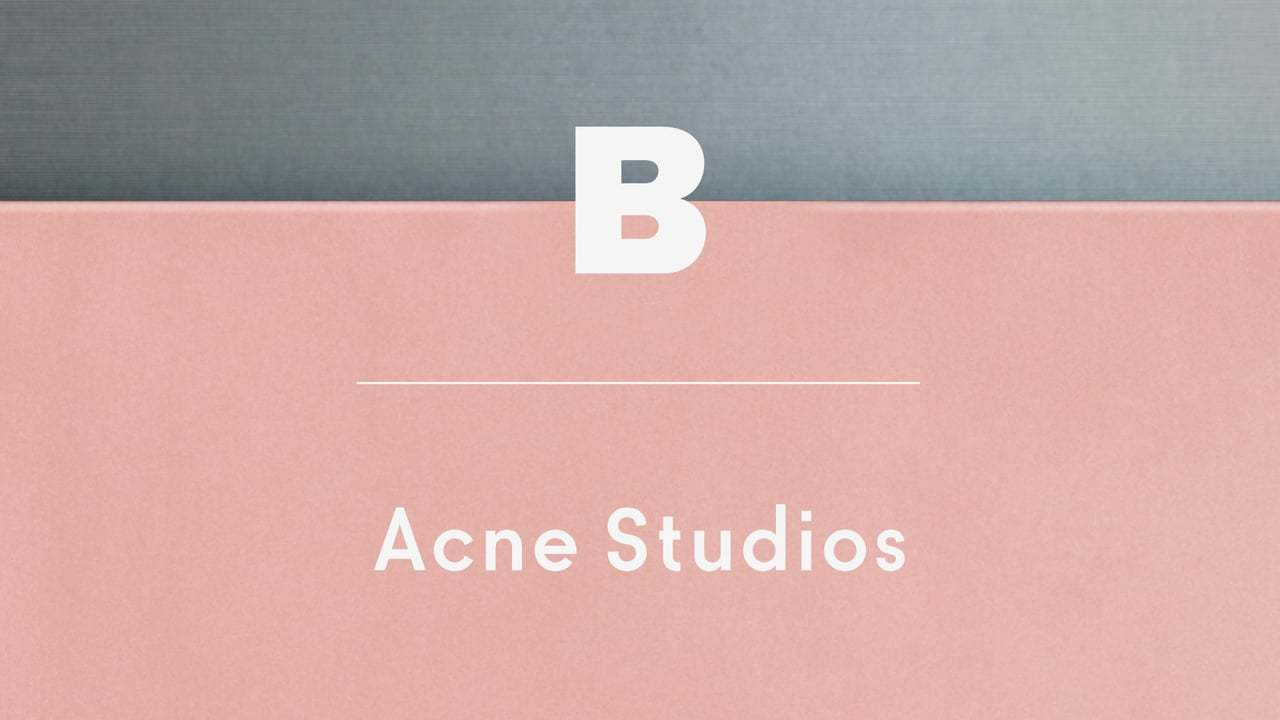 Magazine B 61st Issue: ACNE STUDIOS