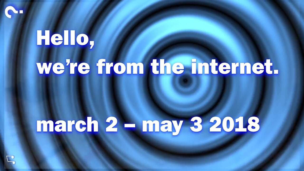 MoMAR inaugural show 'Hello, we're from the internet'