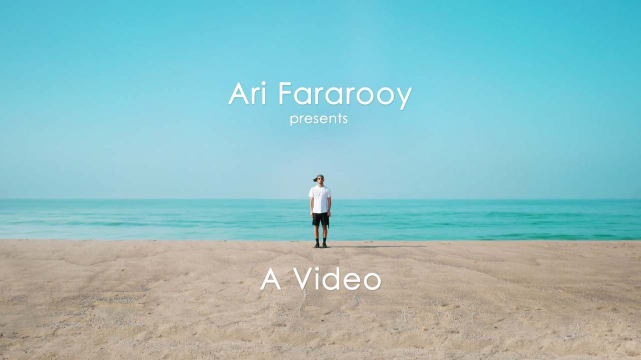 Ari Fararooy Presents: A Video